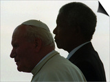 Pope John Paul II and South African President Nelson Mandela Prints