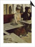 Dans un café, dit aussi l'absinthe (Ellen Andrée et Marcellin Desboutin) Prints by Edgar Degas