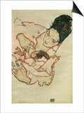 Nursing Mother (Stephanie Gruenwald) 1917 Print by Egon Schiele