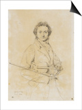 Niccolo Paganini, Violinist, 1819 Prints by Jean-Auguste-Dominique Ingres