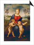 Madonna of the Goldfinch, about 1506 Poster by  Raphael
