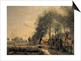 The Road of Sinle-Noble Poster by Jean-Baptiste-Camille Corot
