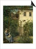 """""""Wiener Hausgarten"""" (Vienna Garden) Print by Eduard Ritter Von Engerth"""