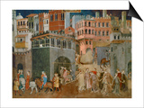 The Blessings of Good Government (Detail), Mural Posters by Ambrogio Lorenzetti
