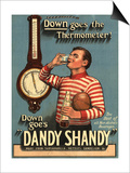 Dandy Shandy Sarsaparilla Rugby Weather, UK, 1920 Prints
