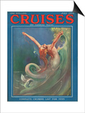 Cruises, Mermaids Magazine, UK, 1930 Prints