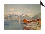 Maisons de pêcheurs à Svolvoer, Lofoden (Norvège) Posters by Johannes Martin Grimelund