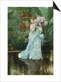 Lilac-Bouquet Prints by James Tissot