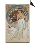 The Arts: Music, 1898 Art by Alphonse Mucha
