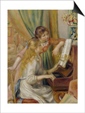 Two Girls at the Piano, c.1892 Prints by Pierre-Auguste Renoir