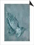 Praying Hands, 1508, Point of Brush and Black Ink, Heightened with White, on Blue Prepared Paper Posters by Albrecht Dürer