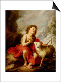 The Infant Saint John the Baptist Print by Bartolome Esteban Murillo