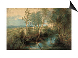 Landscape with Stream Overhung with Trees, 1637-1640 Posters by Peter Paul Rubens