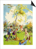 Infant School Illustrations, UK Posters