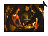 The Dice Players, circa 1650 Art by Georges de La Tour