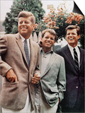 Brothers, John F. Kennedy, Robert Kennedy, and Ted Kennedy, Right, in Hyannis Port, Massachusetts Prints