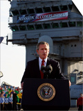 President Bush Declares the End of Major Combat in Iraq as He Speaks Aboard the Aircraft Carrier Art