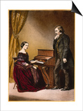 Robert and Clara Schumann, C.1850 Prints