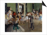 The Dance Class, c.1875 Posters by Edgar Degas