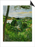 Landscape with Red Rooftops, Also Called Pine-Tree at L'Estaque, 1876 Print by Paul Cézanne