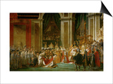 Sacre De Napoleon (Coronation) in Notre-Dame De Paris by Pope Pius VII, December 2, 1804 Posters by Jacques-Louis David