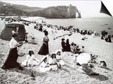 The Beach at Etretat, C.1900 Poster