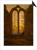 The Dreamer Poster by Caspar David Friedrich