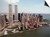 The Twin Towers of the World Trade Center Rise Above the New York Skyline Poster