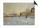 Snow in Argenteuil, 1875 Posters by Claude Monet
