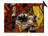 Nature Morte Aux Raisins et Aux Poires (Still Life with Grapes and Pears), 1913 Prints by Juan Gris