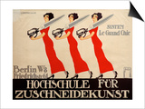 Hochschule Fur Zuschneidekunst, College for Tailor Advertisement, Berlin, Germany Print