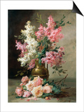 Roses and Lilies Prints by Alfred Godchaux
