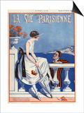 1920s France La Vie Parisienne Magazine Cover Poster