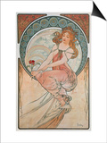 The Arts: Painting, 1898 Posters by Alphonse Mucha