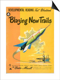 1950s USA Blazing New Trails Book Cover Prints