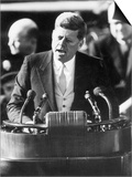 President John F. Kennedy Delivers Inaugural Address after Taking Oath of Office, January 20, 1961 Posters