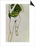 Striding Torso in Green Shirt, 1913 Prints by Egon Schiele