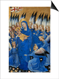 Saint Mary and the Choir of Angels, from the Wilton Diptych Posters