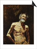 Nude of Old Man in the Sun Prints by Mariano Fortuny y Marsal