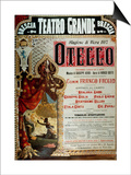 Poster for the production of Othello by Giuseppe Verdi in Brescia, Teatro Grande, 1887 Prints