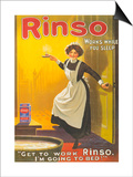 Rinso, Washing Powder Maids Products Detergent, UK, 1910 Art