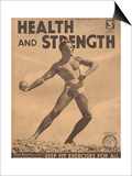 Health and Strength, Body Building Fitness Exercise Gay Magazine, UK, 1938 Posters