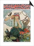 Poster 'Pevecke Sdruzeni Ucitelu Moravskych' (The Moravian Teachers' Choir), 1911 Posters by Alphonse Mucha