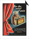 Anadin, Medicine Tablets Medical, UK, 1940 Print