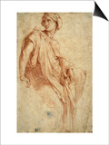 Study for the Phrygian Sibyl, 1511-1512 Posters by  Raphael