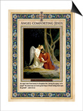 Gethsemane: Angel Comforting Jesus Posters by Carl Bloch