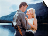 """Robert Mitchum, Marilyn Monroe. """"River of No Return"""" 1954, Directed by Otto Preminger Art"""