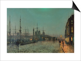 The Hull-Docks by Night Posters by John Atkinson Grimshaw