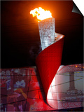 Beijing Olympics Opening Ceremony, Olympic Torch Burning, Beijing, China Posters