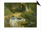 Le Dejeuner (Luncheon in the Artist's Garden at Giverny), circa 1873-74 Prints by Claude Monet